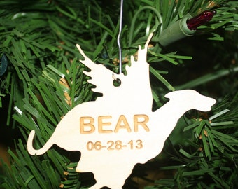 Greyhound with wings Laser Cut Ornament