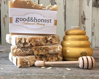 Oatmeal Honey Soap, Handmade Soap: good&honest Oatmeal Honey all natural shea butter soap