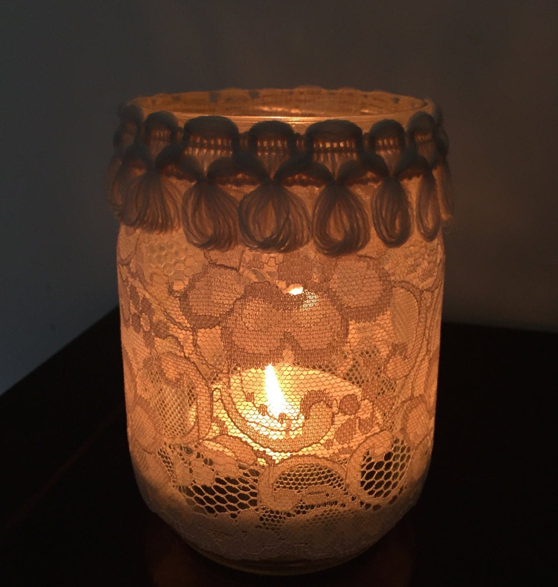 Set Of N 6 Mason Jars Candle Wedding Centerpiece Mason Jars