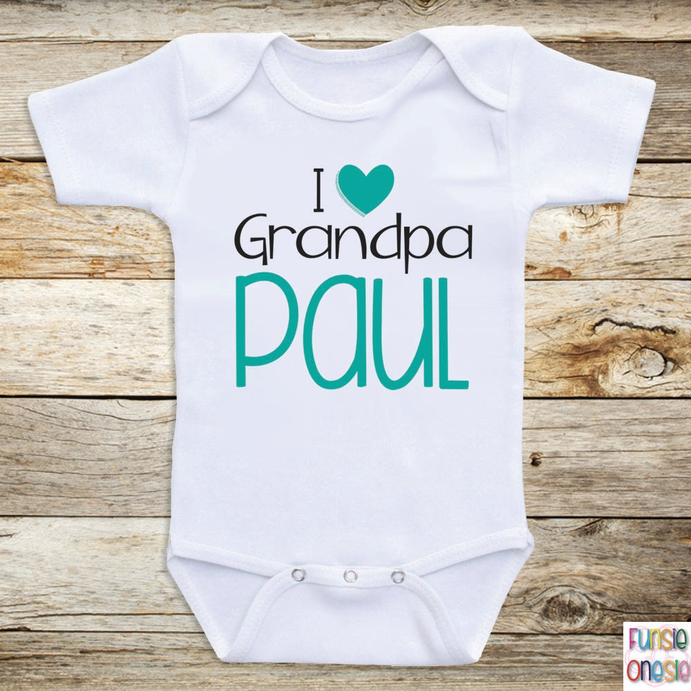 Personalized Baby Clothing I love Grandpa by