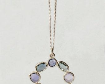 Handmade Unique Rose Cut Sapphire & Silver Pendant