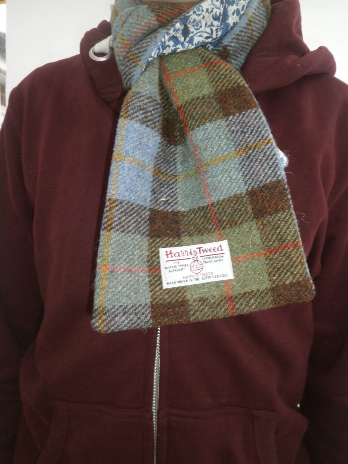 scarf harris tweed liberty of scarf handmade