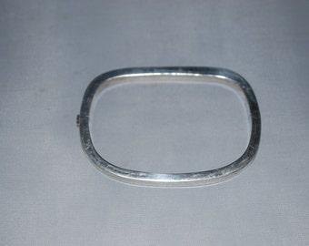 Sterling silver tube bracelet