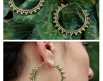 Brass Hoop Earrings - brass hoop earrings