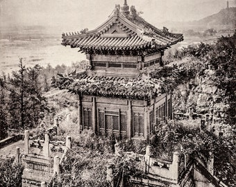 "John Thomson Photo ""The Bronze Temple, Wan-Show-Shan"" 1873"