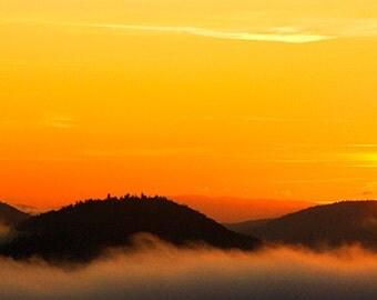 Sunrise Photograph, Adirondack Mountains, Adirondack Sunrise, Adirondack Photo, Orange, Schroon Lake, Adirondack Park, Mountain Photo