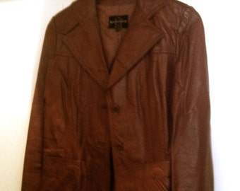 So cool! 70s Leather jacket, Size S, oxblood, very good vintage condition