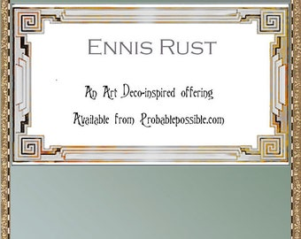 Ennis; Art Deco calling cards for you to print