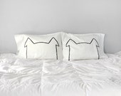 His Hers Dog Nap Pillow Case Set, couples gift set gift for wife gift for men, gift for husband for women pillowcases