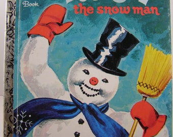 Frosty the Snowman, vintage Little Golden Book