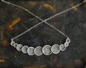 Petite Slate Gray Bubble Necklace in Sterling Silver, 1st Anniversary Gift Paper Jewelry Minimalist Jewelry, Unique Artisan Jewelry....