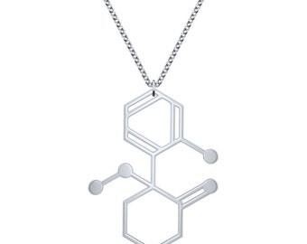 Ketamine Molecule Necklace - Silver