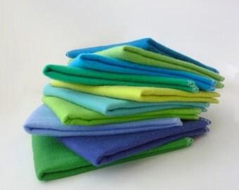 Unpaper Towels - Reusable Paper Towels - Fat Cloth Napkins - Large Double Layer Kitchen Cloth - 10 x 10 Square