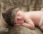 Baby Boy Hat, Newborn Photo Props, Coconut Shell Buttons, Newborn Photography Props, Baby Newsboy Hat, Crochet Baby Hats