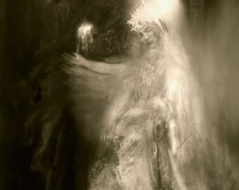 L'eau de la vie rafraîchit la brûlure du cœur -  Original artwork by Françoise Stéfanski