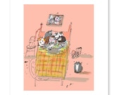 Second Thoughts - Funny Cat Art - Cat Mom Gift - Crazy Cat Lady Art - Mother's Day