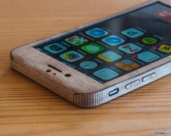 Walnut iPhone 6 / 6S Wrap - Wooden iPhone Case - Single-Piece Wrap - Sleek Style