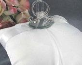 Cinderella Pumpkin Coach Wedding Ring Bearer Pillow - 75220G