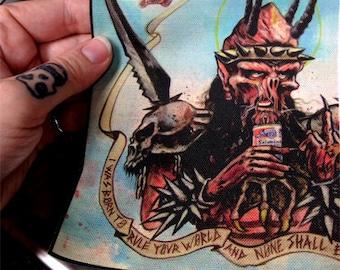 Gwar patch  oderus dave brockie memorial art for your metal vest / battle jacket MED & NEW LARGE size