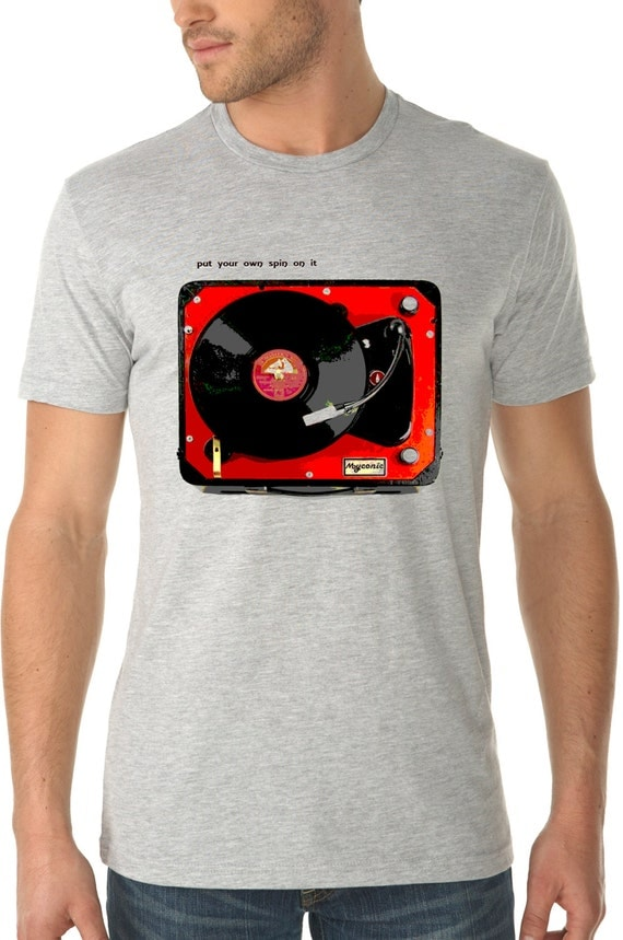 Turntable Shirt Vintage Design Put Your Own By