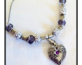 Baltimore Ravens inspird Jewelry inspired necklace