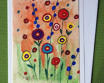 Fantasy Garden - Hand Painted Floral Abstract Greeting Cards