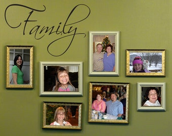 Family Wall Decal - Family Wall Art - Gallery Wall Decal - Medium