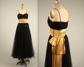 SALE • 1950s stunning party dress • vintage 50s dress • tulle prom dress