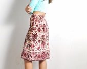 1970s Anne Klein Tapestry Skirt // sz Small