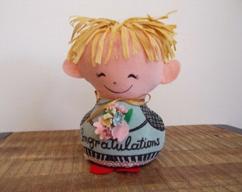 "Vintage 1960s Western Union Dolly-Gram ""Congratulations"" Doll"