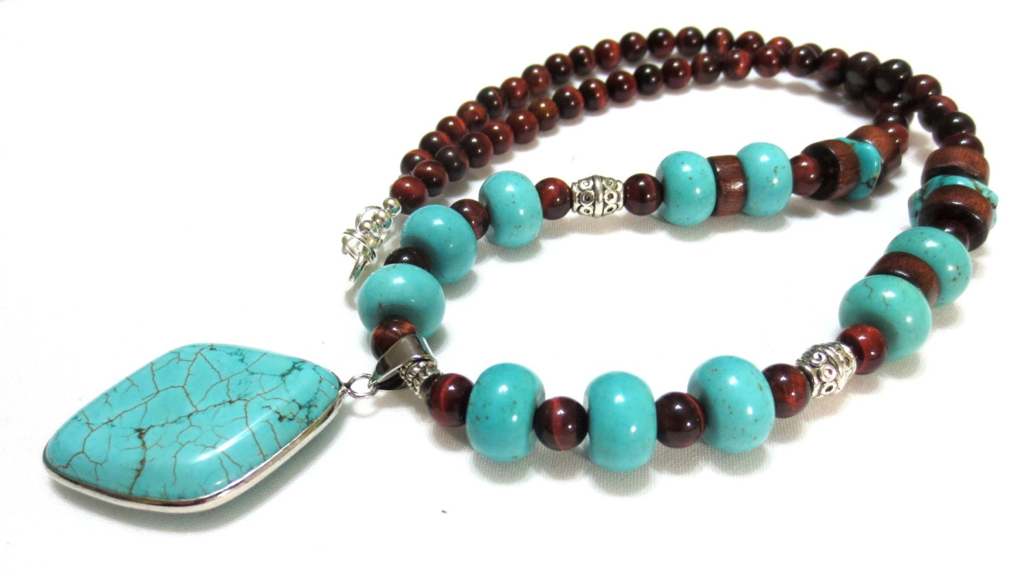 Mens Turquoise Necklace Turquoise Amp Brown Turquoise
