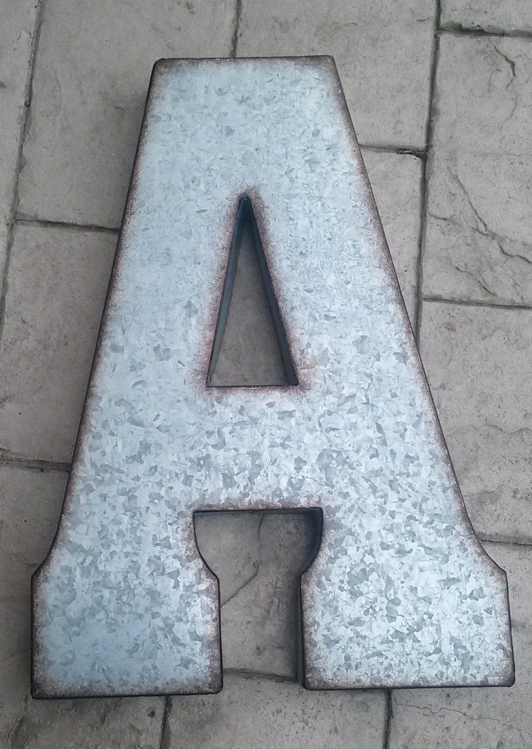 X large metal letter zinc steel initial home room decor diy for Large initial letters