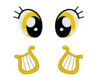 PES FILES: Lyra Eyes & CM Set - Embroidery Machine Design File