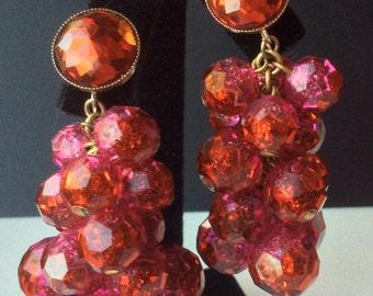 Vogue Jewelry Red Bead Cha-Cha Earrings