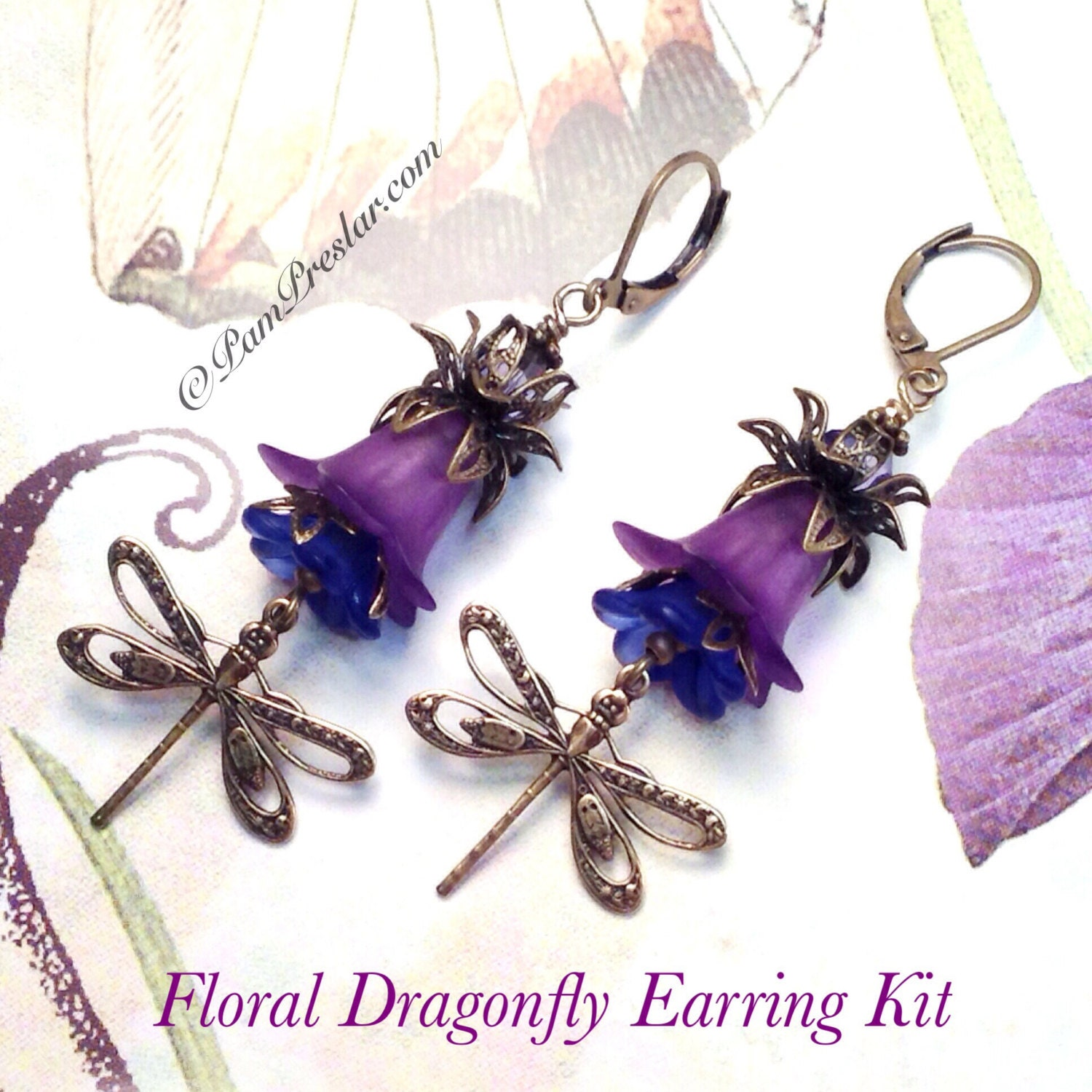 Make Your Own Necklaces And Jewelry At Home: Do It Yourself Jewelry Kit Make Your Own Earrings Kit Purple