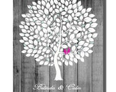 Wedding Guest Book Alternative Print Wood Wedding tree Rustic Wedding Tree Guest's Signatures 160 Signature Wedding Guest Book tree