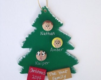 Personalized Christmas Ornament - Small Up to 4 Faces