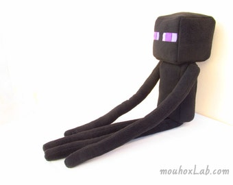 Minecraft inspired large Enderman plush doll Custom made geek softie - MADE TO ORDER