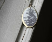 Dream Tree Necklace / Abstract Nature Series / Photo Jewelry / Long Sterling Silver Chain