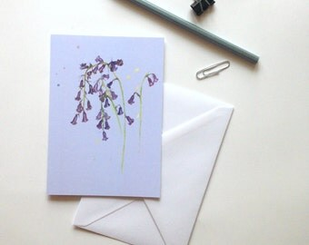 Bluebells greeting card floral notecard