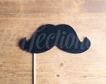 Oversized Mustache Prop | The Francois Mustache Prop | Mustache Photo Prop | Stiff Felt Mustache