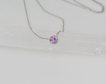Purple Sapphire Layering Necklace, September Birthstone Necklace, Keepsake Gift for Her
