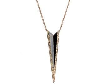 14K Diamond Spiked Pendant/Necklace