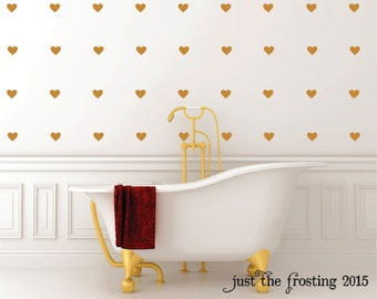 Heart wall decal etsy for Cute gold heart wall decals