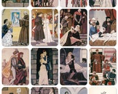 "W. Shakespeare ""Romeo and Juliet"". Drawings by Shmarinov. Set of 16 Vintage Prints, Postcards -- 1963. Fine Arts Publ., Moscow"