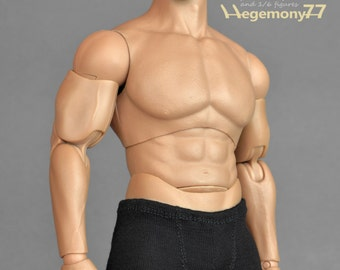 1/6th scale XXL black boxer briefs underwear for: Hot Toys TTM20 size bigger male action figures and fashion dolls