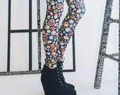 Gemstone Leggings -- Black