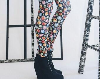 Gemstone Leggings -- Black