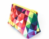 Cosmetics Bag Modern Geometric Small or Large Makeup Bag Toiletry Bag Gift for Women