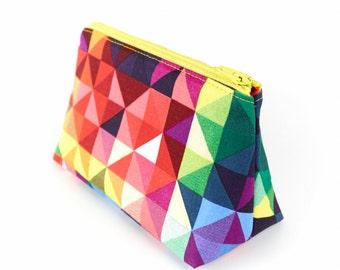 Cosmetics Bag Modern Geometric Small or Large Makeup Bag Toiletry Bag Gift for Women